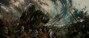 Beorn in Battle by book-illustrator
