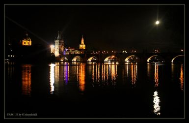 The Charles Bridge by night by blessedchild