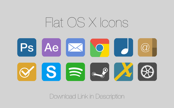 Flat OS X Icons by fblaese
