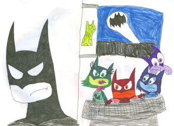 Inside Out: Batman by SithVampireMaster27