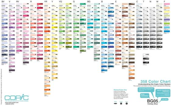 358 copic color set for Manga Studio 5 by ScruffyScribbler