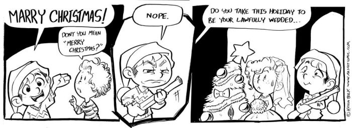 A Christmas Comic (2 Months Late) by kevinbolk