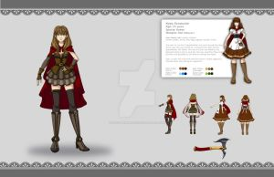 Red Ridding Hood Character Design by zoeymewmew13