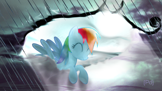 Rainbow Dash Parts Clouds by pdan4