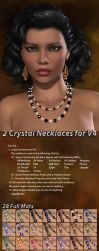 Crystal Necklaces for V4 by parrotdolphin