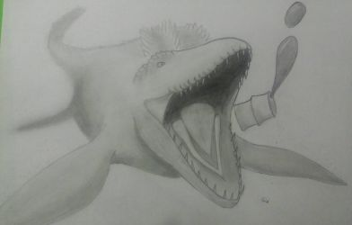 Mosasaur by MareleLup