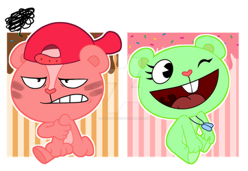 Maxi and Flappy ice cream [mys fankids] by HedgeFlak03