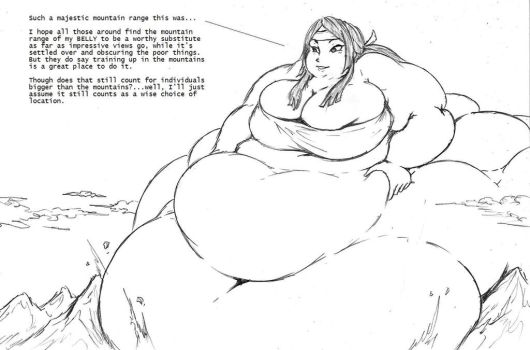 Fat Giantess Say'ri  by ajwolf21