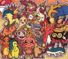 Fire Starters+Their Evolutions