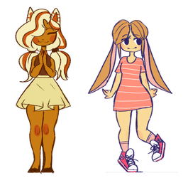 Cat Girl and Bunny Girl adopt {Open 1/2} by BloodDrop2004