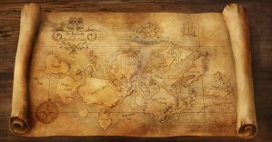 Map of the Outislands, from Hobb's universe by Winterkeep