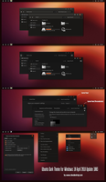 Ubuntu Dark Theme Win10 April 2018 Update by Cleodesktop