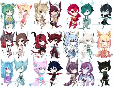 21 mixed CYOP adopts CLOSED by PurrineeAdopts