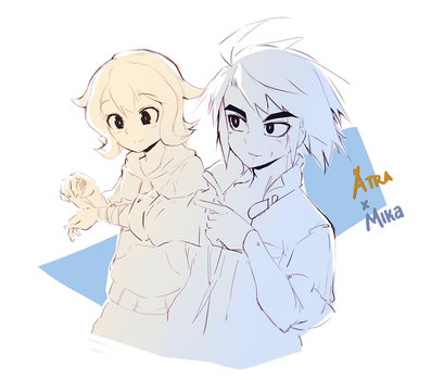 Atra and Mikazuki by ClearEchoes