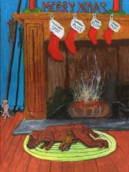 Fireside Christmas by DungeonWarden