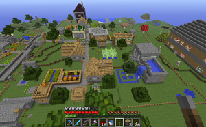 My Minecraft Village by SecminourTheThird