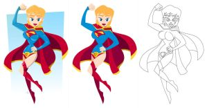 Supergirl (process) by placitte2012