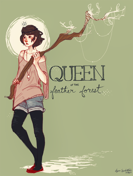 Queen of the Feather Forest by Lynndoodles