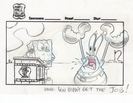 SpongeBob and Mr. Krabs - Movie Storyboard by shermcohen
