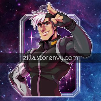 Space Dad Salute Charm by zillabean