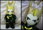 Loki - With Helmet by renealexa-plushie