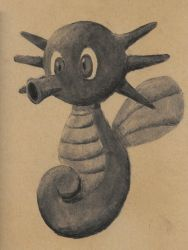 Charcoal horsea by Adlaya