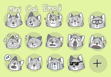 mini telegram cats by ccartstuff