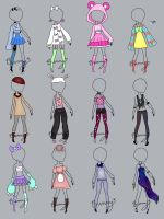 Random Clothing (open) by Homicidal-Bunny