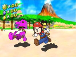 Game Grumps in Super Mario Sunshine by Fredcheeseburger