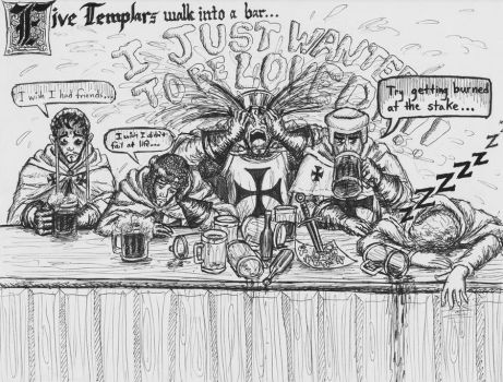Five Templars walk into a Bar by Theophilia