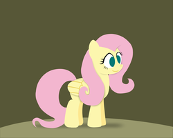 Paper-like Fluttershy by postcactus