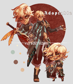 Adopt: The Ruby Dueler (Closed) by BloodnSpice