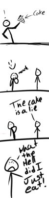 The Cake is a Lie by Spikestar5