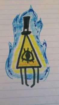 Bill Cipher doodle by AmberOfTheMudSand