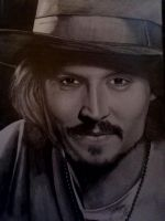 Johnny Depp By Georgina Flood by georginaflood