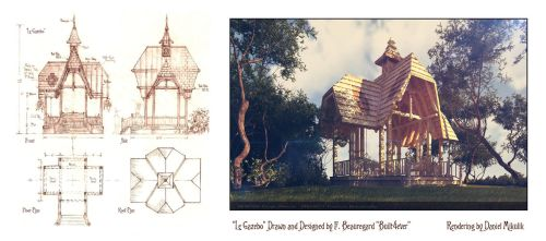 Le Gazebo Drawings and Model by Built4ever