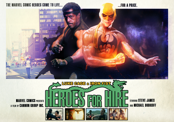 Heroes for Hire - Conceptual Poster by NiteOwl94