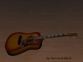 3d Guitar of MBB by MarcinBBlack