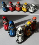 1 Inch Daleks by JWBeyond