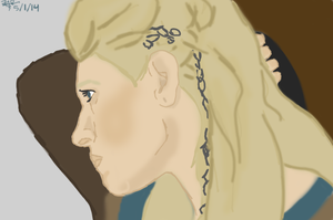 Cartoon-esque Lagertha by Wishiwasahobbit