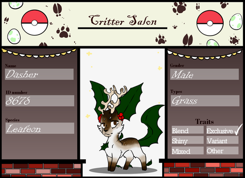 Critter salon-C-C Dasher by Candy-waterfalls