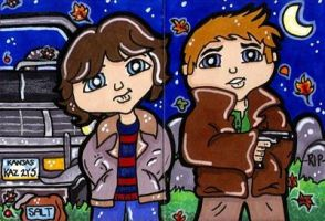 Sam and Dean Supernatural by CassieJ787