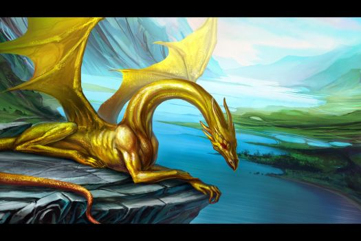 Golden Dragon by anndr