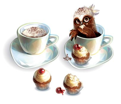 Owl Cappuccino by LimKis