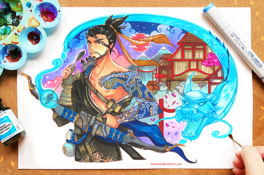 +Hanzo - Overwatch+ by larienne