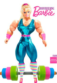 Bodybuilding Barbie by areaorion