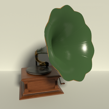Phonograph in Green and Brass by kbmxpxfan
