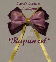 Disney Inspired Bow - Rapunzel by aidahayou