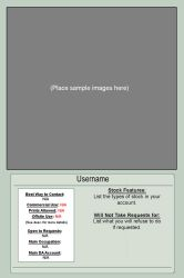 Stock Artist Profile Template by themuseslibrary
