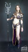 Dark Elf Sorceress Warhammer 02 by Dewbunch